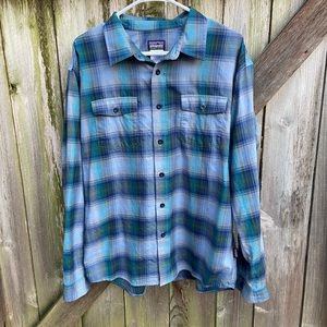 Patagonia Organic Cotton Plaid Long Sleeve Shirt